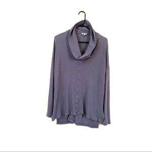 Splendid Thermal Cowl Neck Gray Long Sleeve Top L